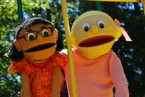 Puppets at the park