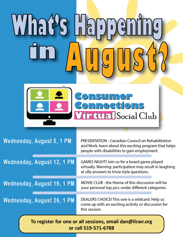 August Consumer Connection Activities