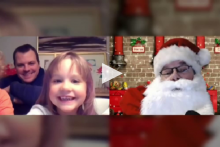 Santa visits virtually with some children